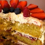 Summer fruit cake by Anne Currie of Hamblemouse blog