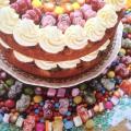 'Trick or Treat' Tuck Shop Cake with lemon sherbet buttercream icing Jo Christy